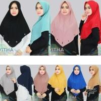 jilbab khimar vitha pad anti tembem antem bahan jersey zoya hijab