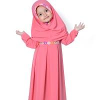 baju muslim/gamis anak perempuan warna guava terbaru