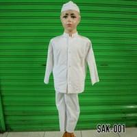 PBK - Baju Anak Baju Setelan Koko Anak Muslim Putih Bersih Bordir SAK