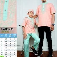 5101 Baju Koko Ayah dan Anak pria, pasangan, couple, bordir
