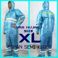 Jas Hujan XL - Jaket Celana Estilo bahan semi karet_Asalia Jogja