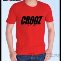 Kaos Merah Crooz d1- Siluet Store