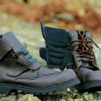 Kickers Boots Safety Leather Kulit Sepatu Rider Touring Motor Sport