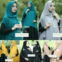 Jilbab Instan kerudung Hijab syar i Khimar Samira bubble crepe