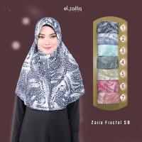 ELZATTA Hijab Zaria Fractal SB Kerudung Jilbab Instan Terbaru Asli