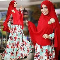 Hijab Modern Nelda Syari Set 2in1 ( Gamis Busui + Jilbab Bergo )