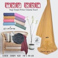 Kerudung segiempat Polos TOP ONE by UMAMA design D5/hijab square murah