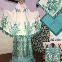 Mukena Lukisan Tangan Asli Handmade Dengan Batik dan Sajadah, Ekslusif