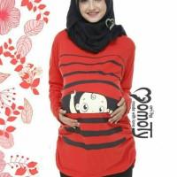Baju ibu hamil trendy model Kaos motif BP 1
