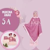 Mukena Anak Ponco Parasut Pink Light Pink 5A