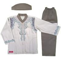 Murah ! Baju Muslim Koko Anak Laki-Laki Stelan Setelan Set Peci AS5-2