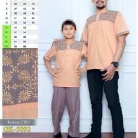 5092 Baju koko Ayah dan anak pria, pasangan, couple, bordir