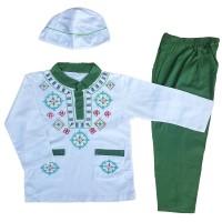 Baju Muslim Koko Anak Laki-Laki Setelan Set Peci LY10-5