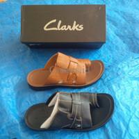 sandal pria  clarks 2 varian PREMIUM QUALITY!!!