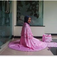 PMM - Mukena Dewasa Ponco Syahrini Pink Mukenah Model Terbaru Tanpa Ke