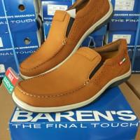 Sepatu MAX BARENS Kulit Casual Pria Keren Original Murah Mx 1221 TAN