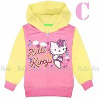 jaket anak perempuan / jaket kaos hoodie hm 26c hello kitty