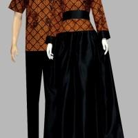 Couple batik sarimbit gamis baju pesta pasangan seragam D1915