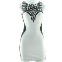Dress Tanpa Lengan/Gaun/Terusan/Polyester Elastene/TEMP-Size S