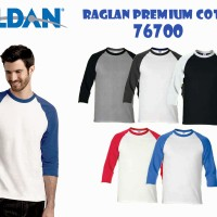 Kaos Polos Gildan 76700 Raglan Premium Cotton Original Size XXL