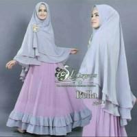 Baju Muslim/Hijab Syar'i/Gamis/Long/Maxi Dress Bergo New Lavender