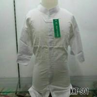 Baju Muslim Anak Sekolah Baju Koko Putih Lengan Pendek Murah KKT S01