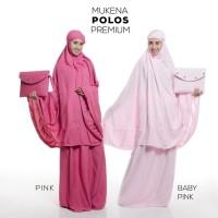 Mukena Premium Polos Baby Pink Telekung Dewasa Peralatan Sholat Cantik