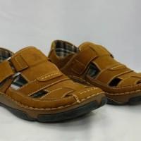 Sepatu sandal kulit pria casual formal Jim joker original EARTH 02