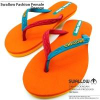 Sandal Jepit Swallow Fashion Female [Orange]