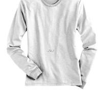 Jual Kaos Polos Lengan Panjang Katun Cotton Shirt Putih Murah