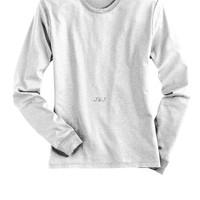 Jual Kaos Polos Lengan Panjang Katun Putih 3XL - 4XL Big Size Jumbo
