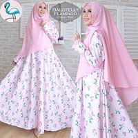 SYARI FALMINGO Baju Gamis Fashion 2in1 Dress Muslim Ukuran Jumbo Murah