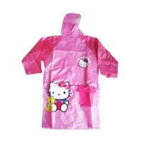 Jas Hujan Anak Karakter Hello kitty Model Terusan ada tempat tas warna
