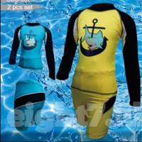 Baju Renang Anak 2pcs Lengan Panjang CDS-007