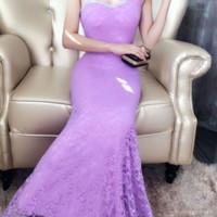 sewa gaun bridal pengantin jakarta gaun ungu
