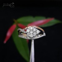 Terbaru Say Cincin Emas Putih Full Berlian Eropa