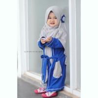 jual baju anak online I gamis anak muslim + hijab I dress anakI Gisela