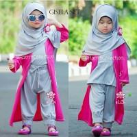jual baju anak online I gamis anak muslim + hijab I gamis anakI Gisela