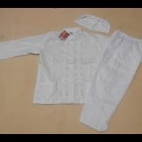 Diskon! Baju Muslim |Baju Koko  Anak Laki Laki Warna Putih  4, 5 Tahun