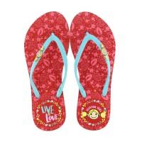 Sandal Surfer Girl Flip Flop Limited Edition SG 166 Merah