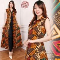 Lestari Blazer 2in1 batik dress maxi panjang  wanita fit to XL