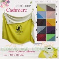 Kerudung Two Tone Cashmere UMAMA Hijab Jilbab Segi Empat Polos A2