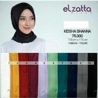 Jilbab Segi Empat Polos Terbaru Elzatta Keisha Shanna 2018