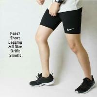 Murah Celana Legging Pendek Pria wanita Gym fitnes Sport Lari renang