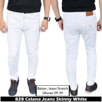 IFH 828 Celana Jeans Skinny Pria Warna Putih 36 37 38 39 40 41 42