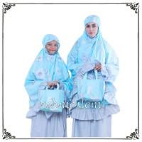 baju muslim wanita MUKENA COUPLE IBU DAN ANAK REGAZA BLUE by NSH