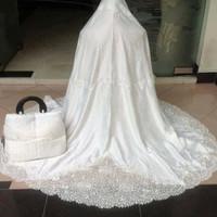 Mukena Sutra dove bordir kerancang cantik dan terlaris