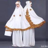 murah Mukena Rukuh Putih Wanita Bordir Batik