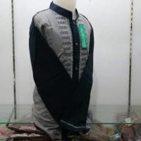 Jual Baju Koko Anak Muslim Lengan Panjang Abu Biru Tanah Abang LKT 0 T