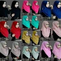 Hijab Alice Candy Lipit Kancing Kerudung Jilbab Instan Jersey Zoya